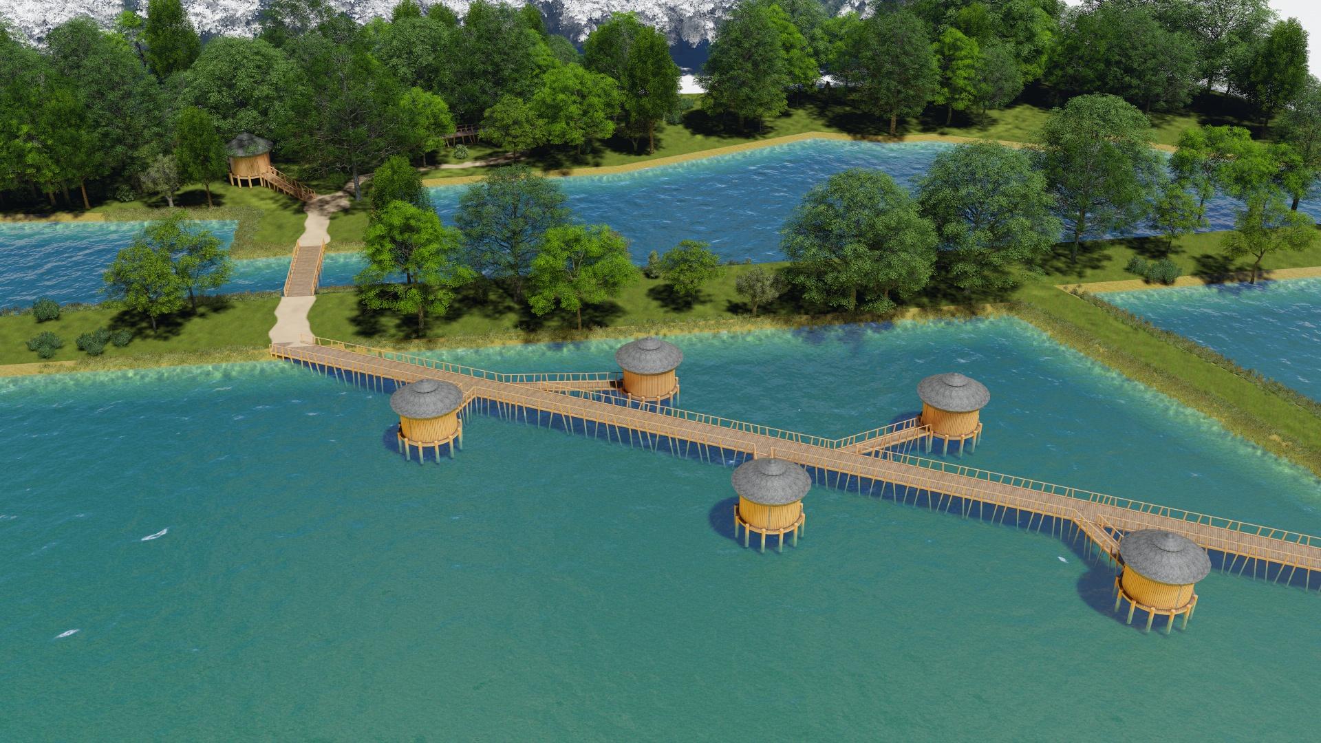 faházak a vízre (nádas) építve