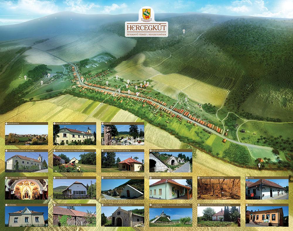 3D információs térkép a faluról