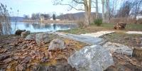 A szürke mészkő a környéken meghatározó kőzet