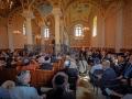 Az ünnepélyes megnyitó a zsinagógában