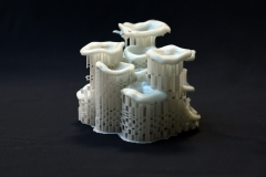 3D nyomtatott elem, foszforeszkáló anyagból