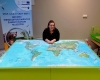 Összetolható térképes asztal, foglalkozáshoz.